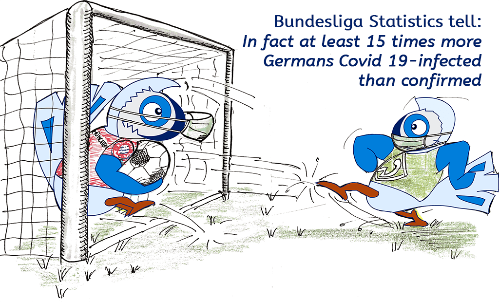 German Bundesliga helps to learn about Corona Statistics